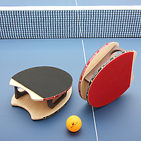 Brodmann Blades Ping Pong Set on blue table