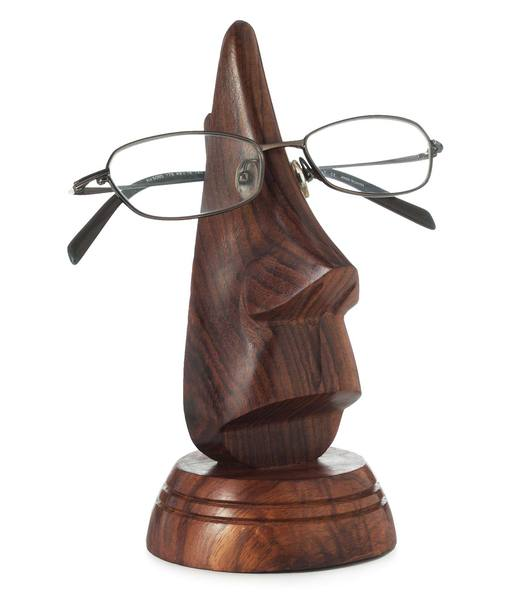 hand-carved eyeglasses holder