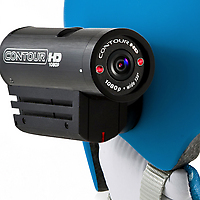ContourHD 1080p Wearable Video Camera helmet detail