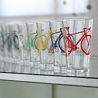 Vital Industries Crazy Super Bike Party Pint Glasses Set of 8 detail