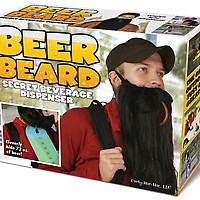 Beer Beard Prank Pack Genuine Fake Gift Box front