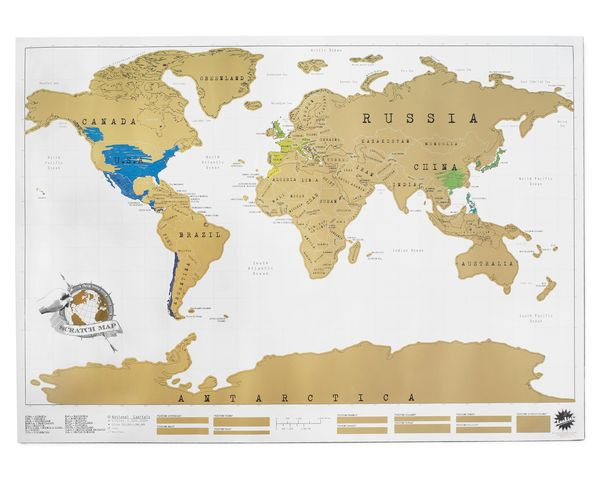 Scratch Off World Map on Wantist