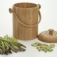 Bamboo Compost Pail on Wantist