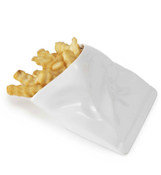 Porcelain French Fry Pouch 2