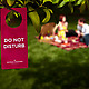 Boxsal Picnic Box Todays Date with do not disturb sign