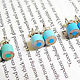 Color Pencil Stud Earrings by HuiYi Tan blue set
