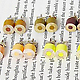 Color Pencil Stud Earrings by HuiYi Tan yellow set