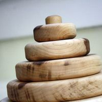 Circle Organic Wood Toy Stacker on Wantist