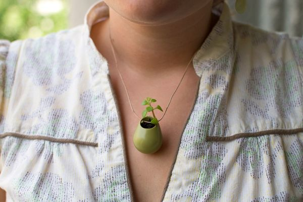 A Wearable Planter by Colleen Jordan on Wantist