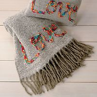 Recycled Wool Love Throw on Wantist
