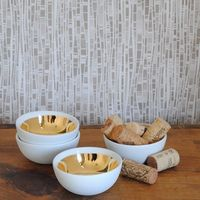 Dauville Gold-Brushed Bowls by Canvas on Wantist