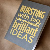 Bursting with Brilliance Notebook on Wantist