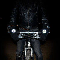 Reflective Biker Gloves on Wantist