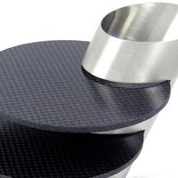 Carbon Fiber Coaster Set 2