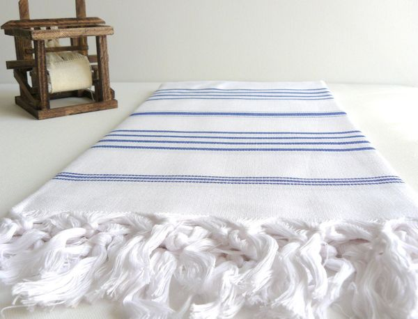 Handwoven Turkish Beach or Bath Towel on Wantist