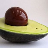 Avocado Salt and Pepper Shaker 1
