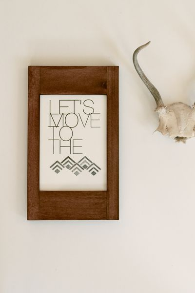 Let's Move to the Mountains by In Haus Press on Wantist