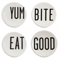 Round Canape Plates by Diane Keaton 1