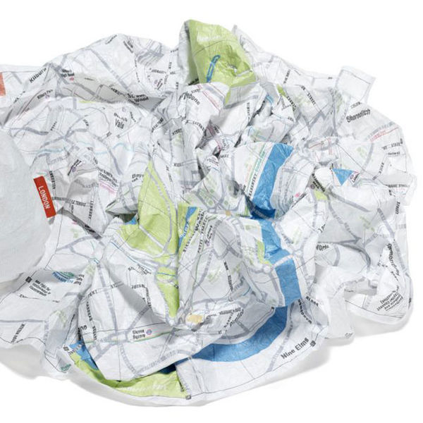 Crumpled City Map on Wantist