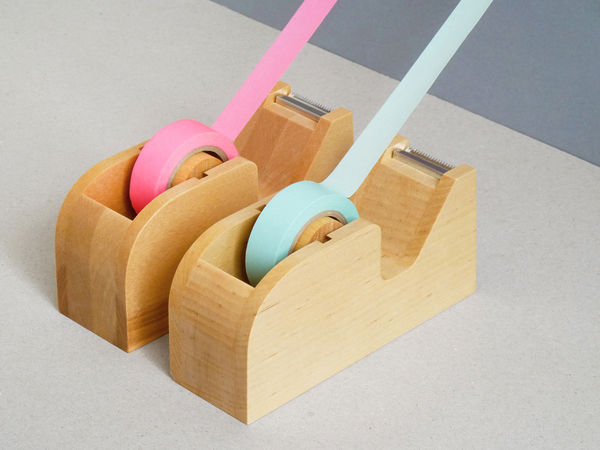 Wooden Tape Holder 1