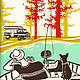 Camping Circa 1960s Letterpress Prints 1