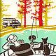 Camping Circa 1960s Letterpress Prints 1