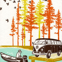 Camping Circa 1960s Letterpress Prints 4