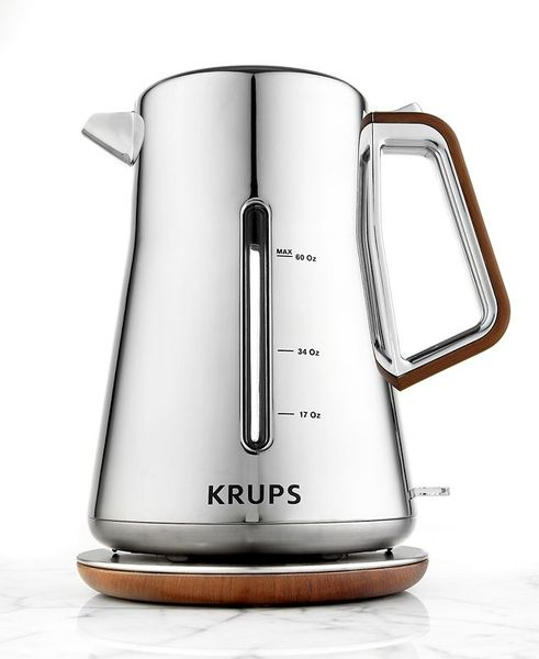 Krups Chrome & Wood BW600 Electric Kettle 1