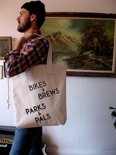 Bikes & Brews Canvas Tote by International Birds Society 1
