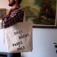 Bikes &amp;amp; Brews Canvas Tote by International Birds Society 1