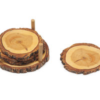 Tree Ring Coasters on Wantist