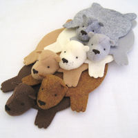 Bear Rug Coasters  Set of 6 1