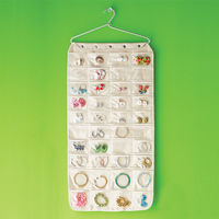 Canvas 80-Pocket Hanging Jewelry Organizer on Wantist