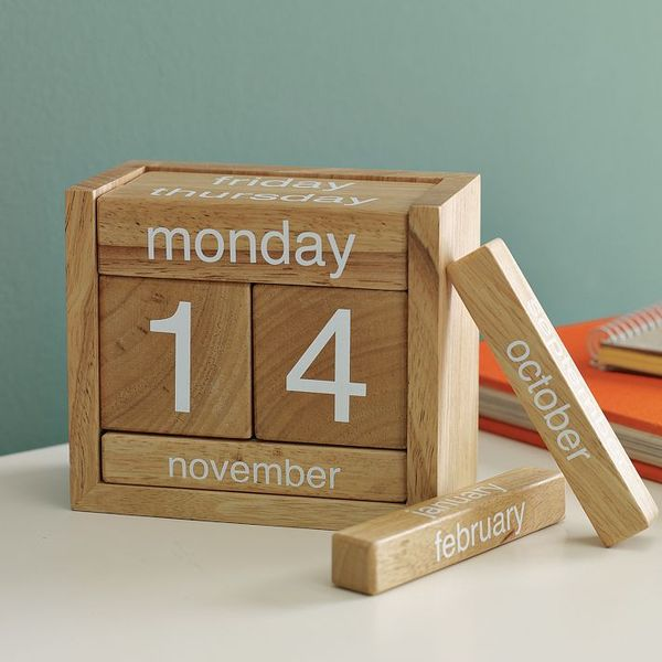Perpetual Calendar Wooden Blocks