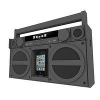iP4 Portable FM Stereo Boombox for iPhone/iPod 1