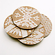 Mojave Cork Letterpress Coasters  Set of 4 5