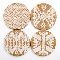 Mojave Cork Letterpress Coasters – Set of 4 6