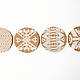 Mojave Cork Letterpress Coasters  Set of 4 7