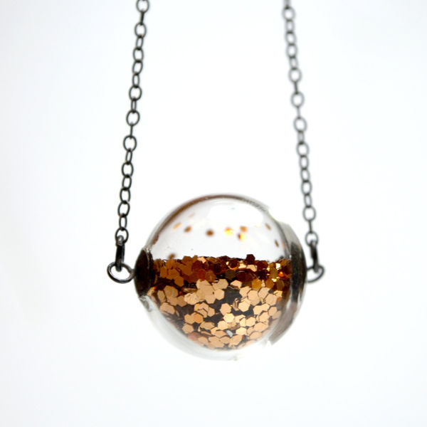 Glass Globe Glitter Necklace 3