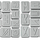 Letterpressed Cookie Cutters 1