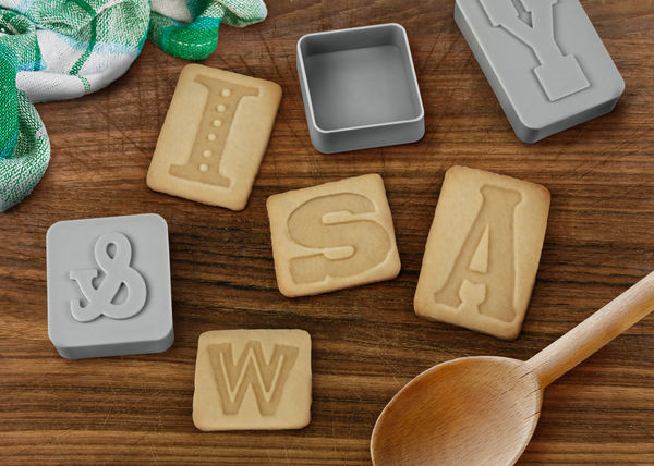 Letterpressed Cookie Cutters on Wantist