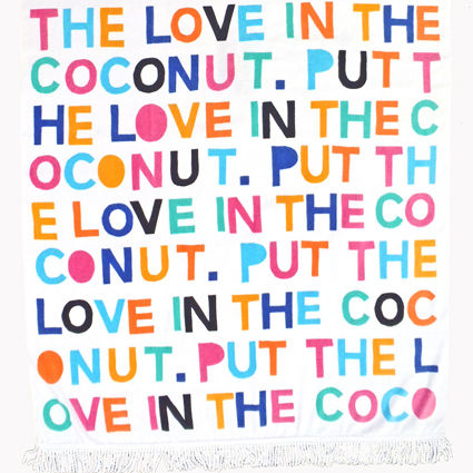 Put The Love In The Coconut Beach Towel 3