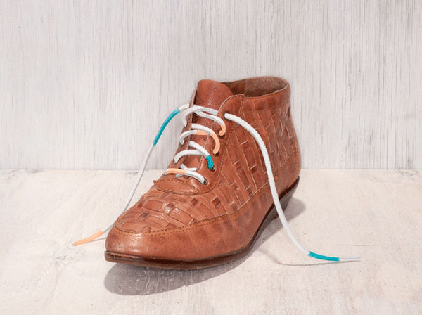 Painted Leather Shoelaces by Comb Collective 3