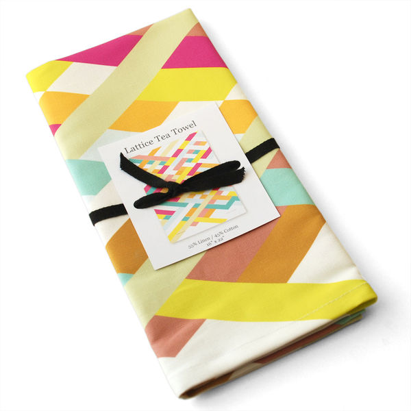 Lattice Tea Towel by Avril Loreti on Wantist