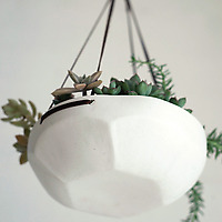 Pigeon Toe Ceramics Faceted Hanging Tray on Wantist