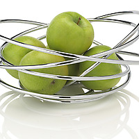 Black and Blum Fruit Loop Bowl with green apples