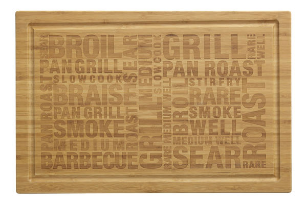 Etched Bamboo BBQ Board on Wantist