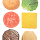 Burger Coasters – Set of 6 3