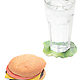 Burger Coasters  Set of 6 4