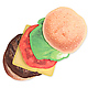 Burger Coasters  Set of 6 5